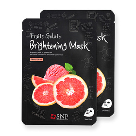 แพ็คคู่ SNP Fruits Gelato Brightening Mask #Grapefruit 2pcs