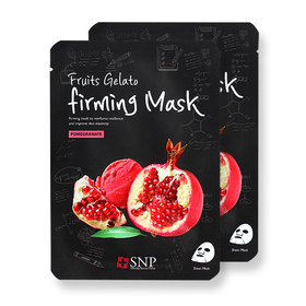 แพ็คคู่ SNP Fruits Gelato Firming Mask #Pomegranate 2pcs
