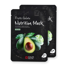 แพ็คคู่ SNP Fruits Gelato Nutrition Mask #Avocado 2pcs