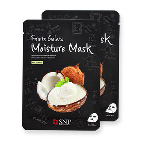 แพ็คคู่ SNP Fruits Gelato Moisture Mask #Coconut 2pcs