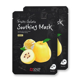 แพ็คคู่ SNP Fruits Gelato Soothing Mask #Quince 2pcs