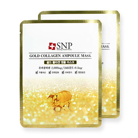 แพ็คคู่ SNP Gold Collagen Ampoule Mask 2pcs