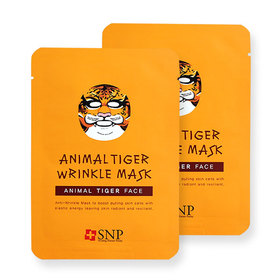 แพ็คคู่ SNP Animal Tiger Wrinkle Mask 2pcs
