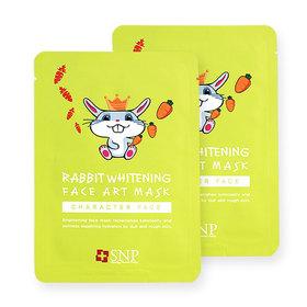 แพ็คคู่ SNP Rabbit Whitening Face Art Mask 2pcs