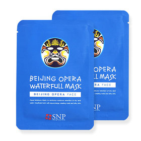 แพ็คคู่ SNP Beijing Opera Waterfull Mask 2pcs