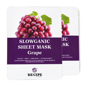 แพ็คคู่ Re-Cipe Slowganic Grape Mask 2pcs