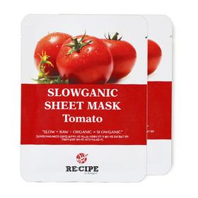 แพ็คคู่ Re-Cipe Slowganic Tomato Mask 2pcs