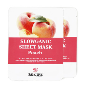 แพ็คคู่ Re-Cipe Slowganic Peach Mask 2pcs