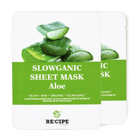แพ็คคู่ Re-Cipe Slowganic Aloe Mask 2pcs