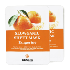 แพ็คคู่ Re-Cipe Slowganic Tangerine Mask 2pcs