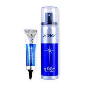 Acnoc Set 2 Items (Acneser Spot Gel 15g + Acne Shot Toner Spray 50ml)