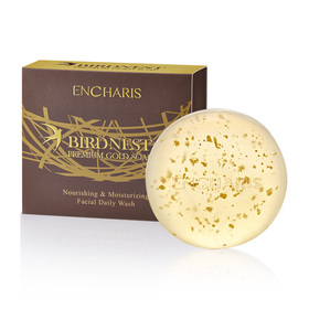 Encharis Birdnest Premium Gold Soap Nourish &Moisturizing Facial Daily Wash 100g