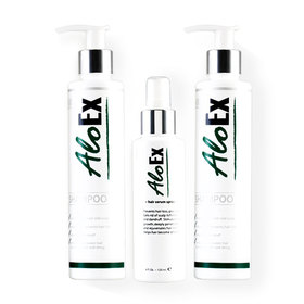 AloEx Hair Regrowth Set 2 Items (Shampoo 200ml + Serum 120ml) Free! Shampoo 200ml