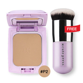 Cute Press Evory Retouch Oil Control Foundation Powder SPF 30 PA+++ 12g #P2 Free Evory Retouch Brush