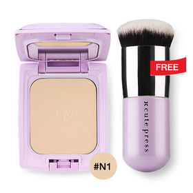 Cute Press Evory Retouch Oil Control Foundation Powder SPF 30 PA+++ 12g #N1 Free Evory Retouch Brush