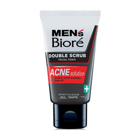 Biore Men's Double Scrub Facial Foam Acne Solution 100g