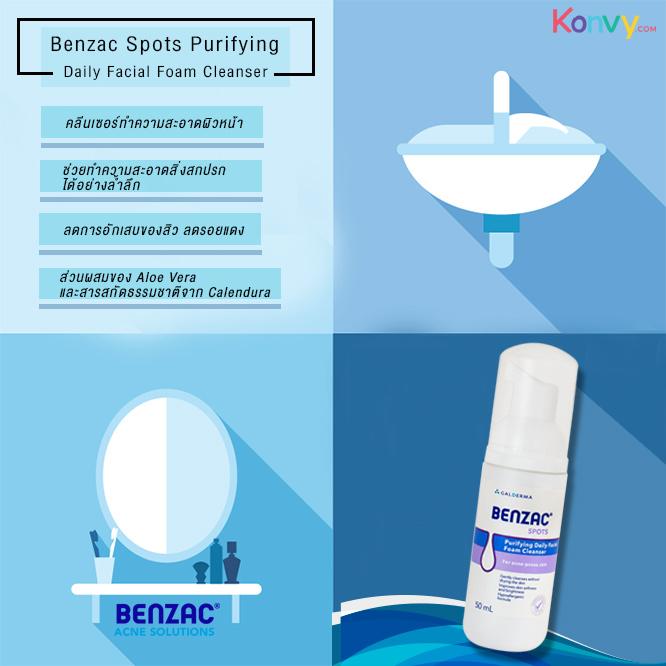 Benzac Spots Purifying Daily Facial Foam Cleanser 50ml_1