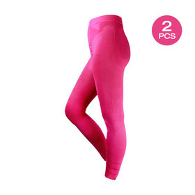 แพ็คคู่ Top Slim Spring Leggings (Size S-M) #Pretty Pink ( 2pcs)