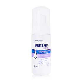 Benzac Spots Purifying Daily Facial Foam Cleanser 50ml