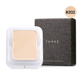 THREE Renewing Powder Foundation 12g #202 (Refill)