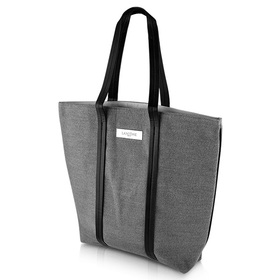 Lancome Carrying Arm Black Line Bag #Grey (Big)