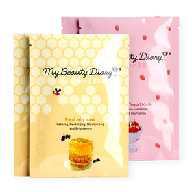 แพ็คคู่ My Beauty Diary Strawberry Yogurt Mask + Royal Jelly Mask (2 Sheets x 2 Boxes)