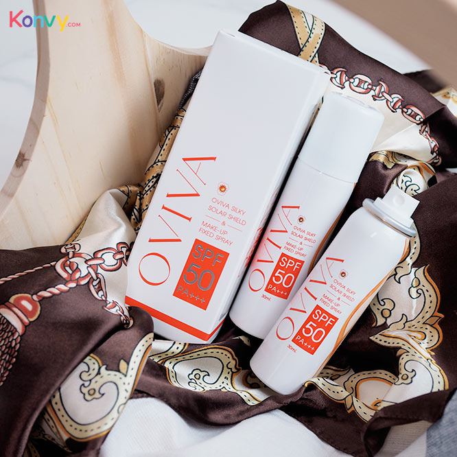 แพ็คคู่ Oviva Silky Solar Shield & Make-up Fixed Spray SPF50/PA+++_1