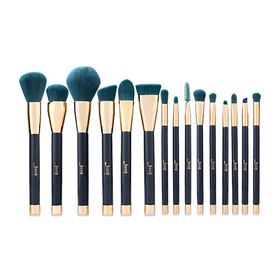 Jessup Professional Makeup Brushes Set 15 pcs #T113 Blue/ Dark Green