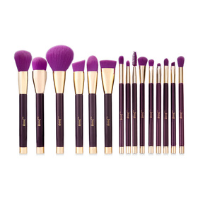 Jessup Professional Makeup Brushes Set 15pcs #T114 Purple/ Dark Violet