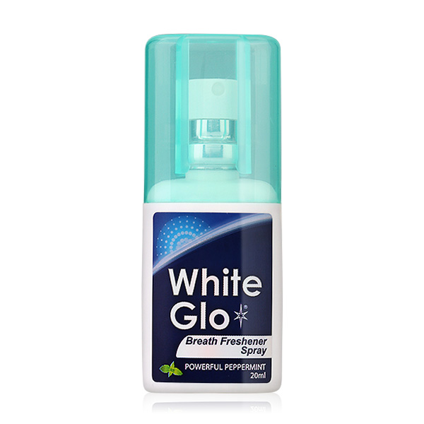 White Glo Breath Freshner Spray Powerful Peppermint 20ml