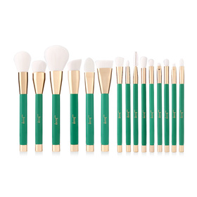 Jessup Professional Makeup Brushes Set 15pcs #T116 Green/ White