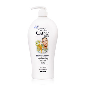 White Care Shower Cream Replenishing Smooth Silky 800ml #Rice Bran