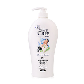 White Care Shower Cream 2X Moisturising Whitening Firming 800ml #Goat's Milk, Pegaga And Licorice