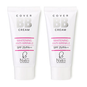 ซื้อ 1 แถม 1 Nabii Cover BB Cream Whitening Anti-Wrinkle SPF25/PA++ (20ml x 2)