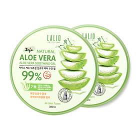 แพ็คคู่ Lalio Jeju Natural Aloe Vera 99% Soothing Gel (300ml x 2pcs)