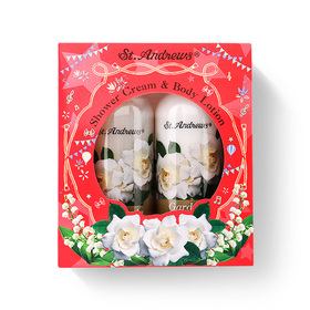 St.Andrews Happiness Gift Set 2 Items (Shower Cream Gardenia 250ml + Body Lotion Gardenia 250ml)