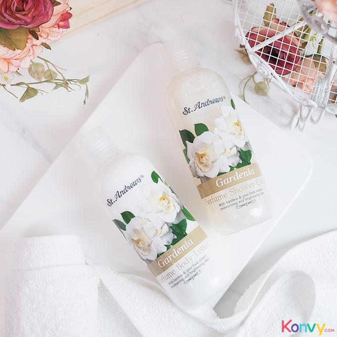 St.Andrews Happiness Gift Set 2 Items (Shower Cream Gardenia + Body Lotion Gardenia)