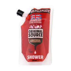 Original Source Shower Gel Pouch 500ml #Strawberry&Pink Peppercorn