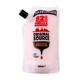 Original Source Shower Gel Pouch 500ml #Vanilla&Raspberry