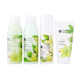 Oriental Princess Frangipani Travel Set 4 Items ( Shower & Bath Cream 100ml + Body Moisturiser SPF 10 100ml + Anti- Perspira