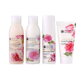 Oriental Princess White Flower Travel Set 4 Items ( Shower & Bath Cream 100ml + Body Moisturiser SPF 10 100ml + Anti- Perspi