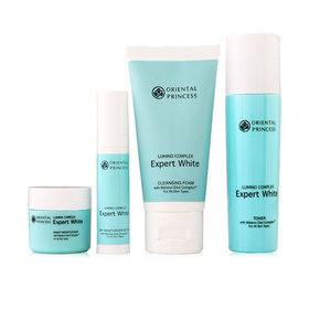Oriental Princess Lumino Complex Expert White Set 4 Items (Cleansing Foam 50g + Toner 50ml + Moisturizer SPF20 10g + Night Moist