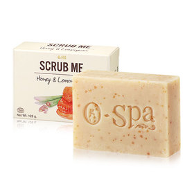 O-Spa Scrub Me Soap 125g #Honey & Lemongrass
