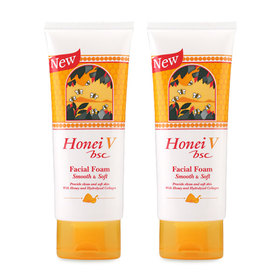 แพ็คคู่ Honei V Bsc Facial Foam Smooth & Soft (100g x 2)