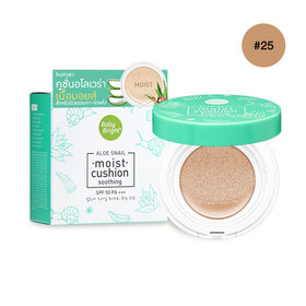 Cathy Doll Aloe Snail Moist Cushion SPF50/PA+++ 15g #Honey Bright