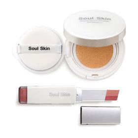 Soul Skin Set 2 Items ( Mineral Air CC Cu-shion SPF50/PA+++ 15g #19 + Eye Shadow Bar #01 Dolly Mix)