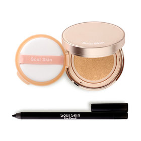 Soul Skin Set 2 Items (Anti-Aging Finish Touch Look Natural Skin Cushion 15g #19 + Eye Pencil #01)