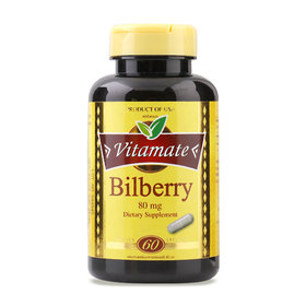 Vitamate Bilberry 80mg (60 Capsules)