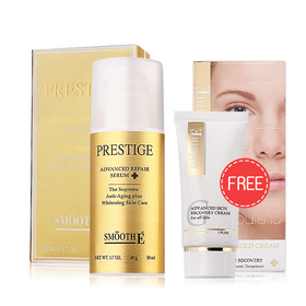 Smooth E Prestige Advanced Repair Serum 50ml (Free! Smooth E Gold Anti Aging Advanced Skin Recovery Cream 30g)