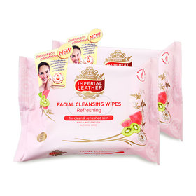 แพ็คคู่ Imperial Leather Facial Cleansing Wipes #Refreshing (20pcsx2)